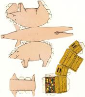 Bastelbogen 3 Schwein Patricia M