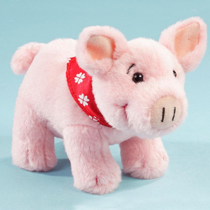 Schweinchen mit Halstuch. 12 cm. Plüsch