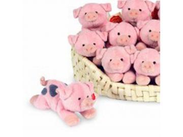 Schwein liegend 13 cm Hermann Teddy Collection