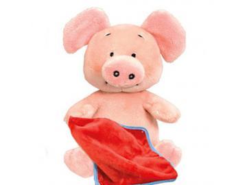 Wibbly Pig mit Kuscheldecke 20 cm Original aus GB!