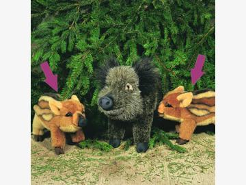 Frischling Uschi 30 cm Wildschwein