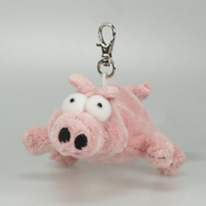 Poopsy Plüsch Schwein Schlüsselanhänger, 8cm
