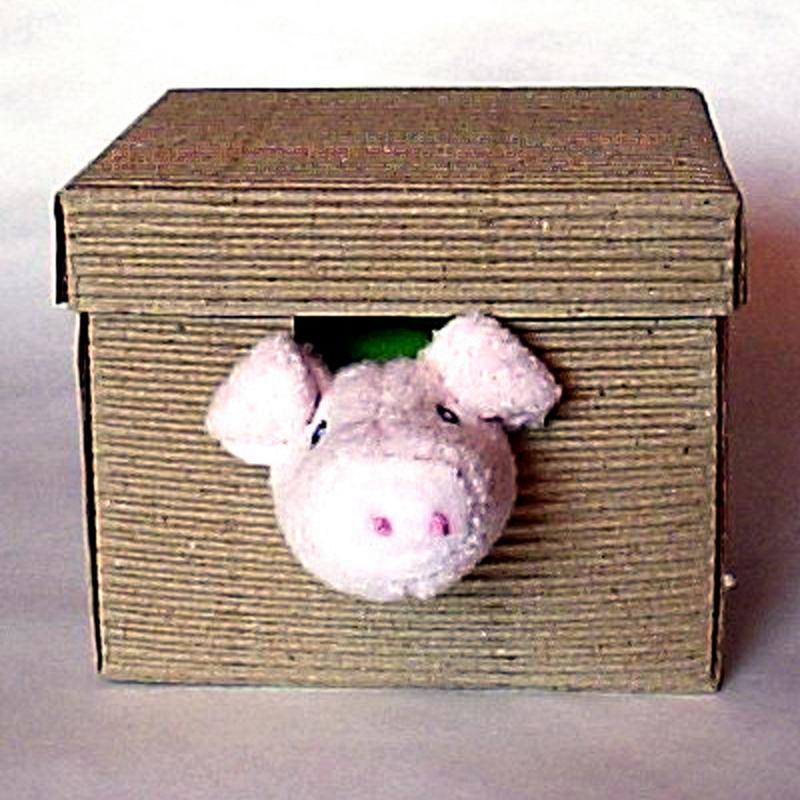 Doudou Kleeblatt u. Schwein. Babydecke Schmusedecke in Geschenkbox