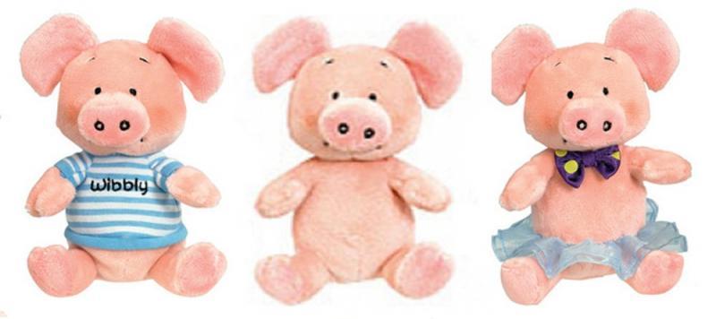 Wibbly Pig mit Tütü u. Schleife. 15 cm. Original aus GB!