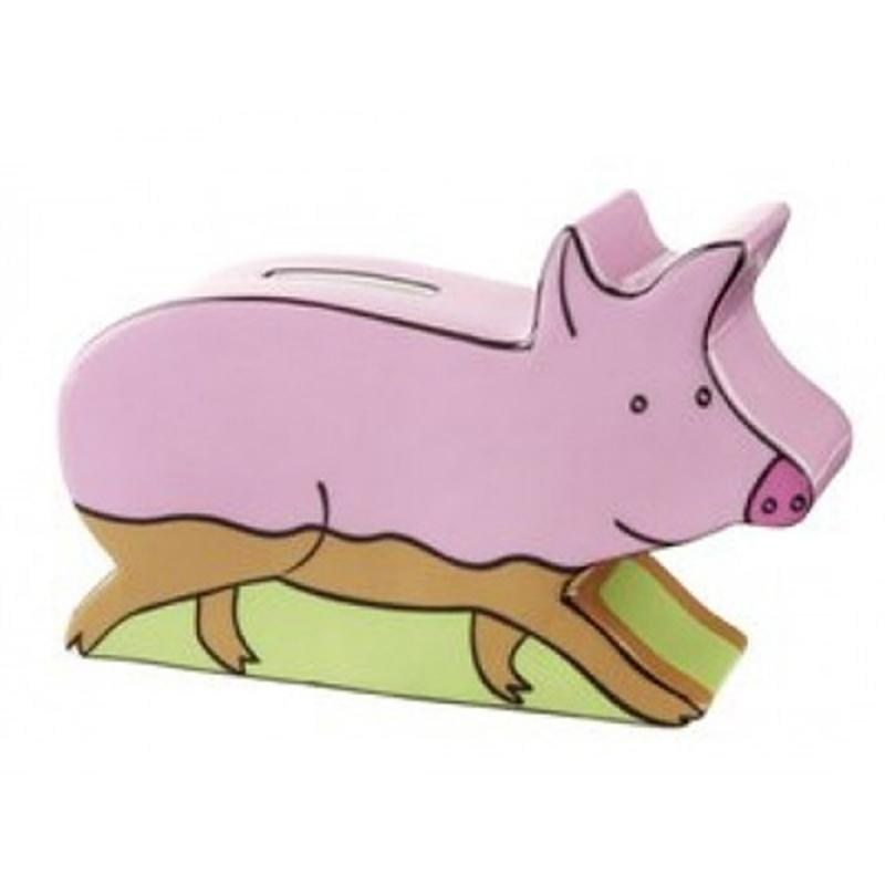 Spar-Schwein Farm animals. Porzellan. bemalt. Villeroy & Boch. EINZELSTÜCK! OVP