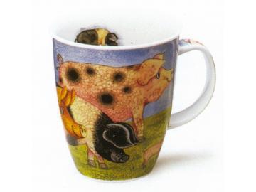 DUNOON Country Pig Tasse Becher Porzellan Schwein