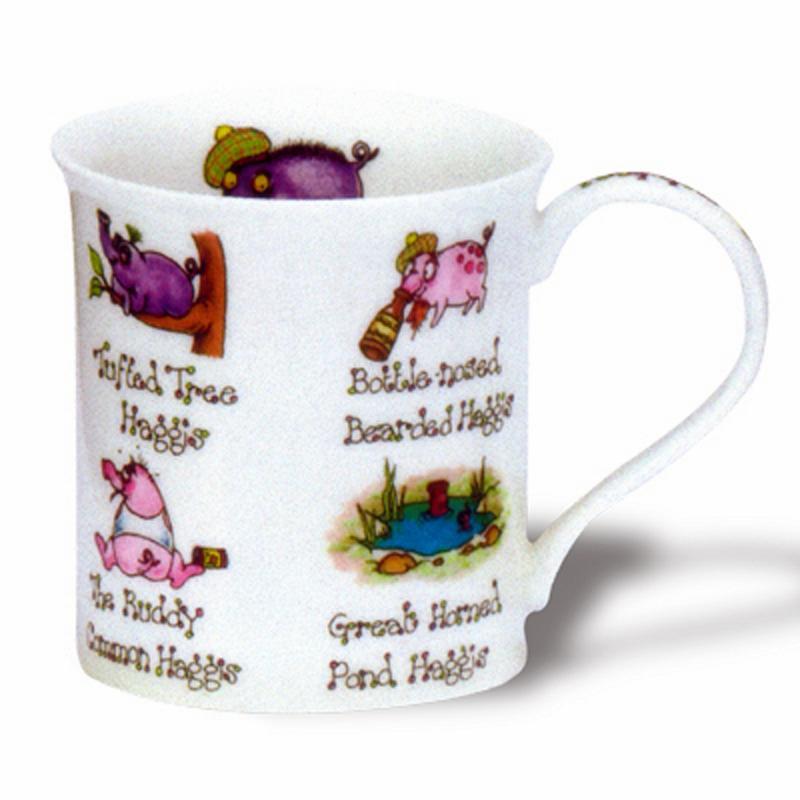 DUNOON Mac Hoots Pigs Tasse Becher Porzellan Schwein