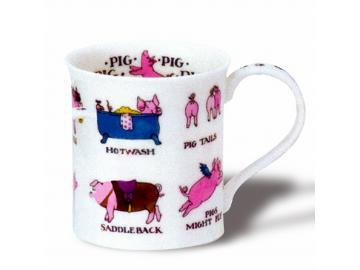 DUNOON Animal Puns Pigs Tasse Becher Porzellan Schwein