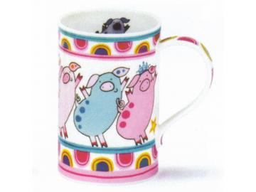 DUNOON Kitchen Kool Pigs Tasse Becher Porzellan Schwein