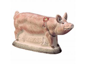 Das Champion-Schwein. pink gefleckt. Original englische Rye-Keramik