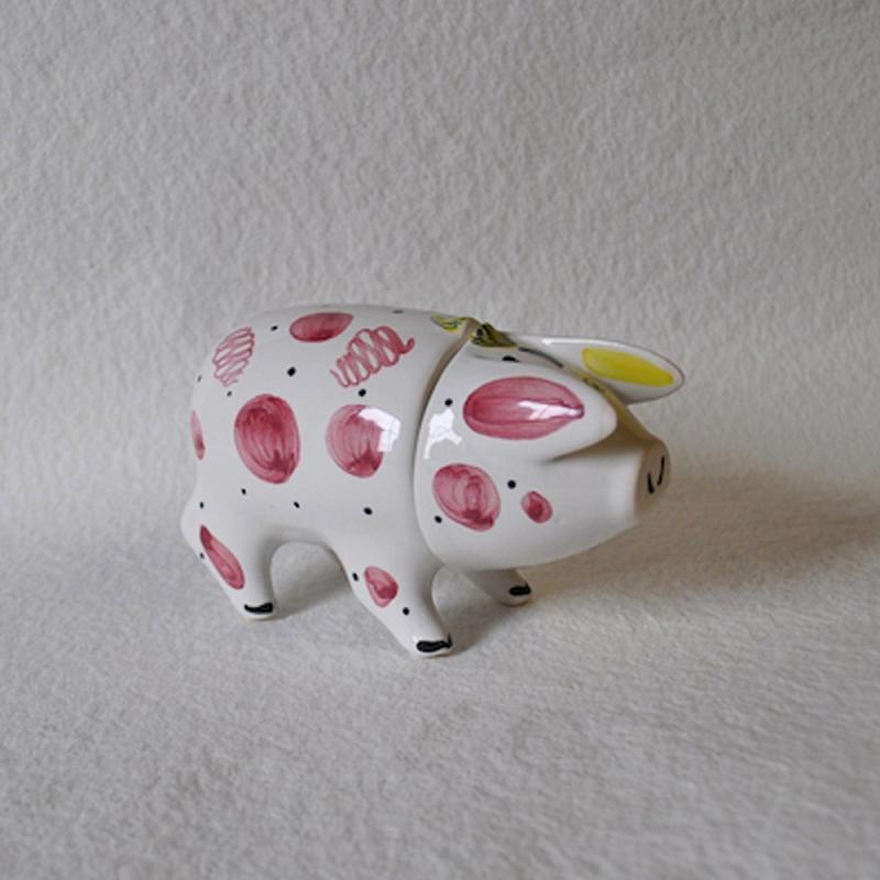Sussex Pig Keramik Dose pink groß - Original englische Rye-Keramik