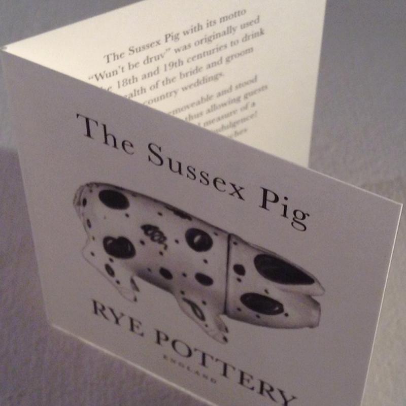 Sussex Pig Keramik Dose schwarz groß - Original englische Rye-Keramik