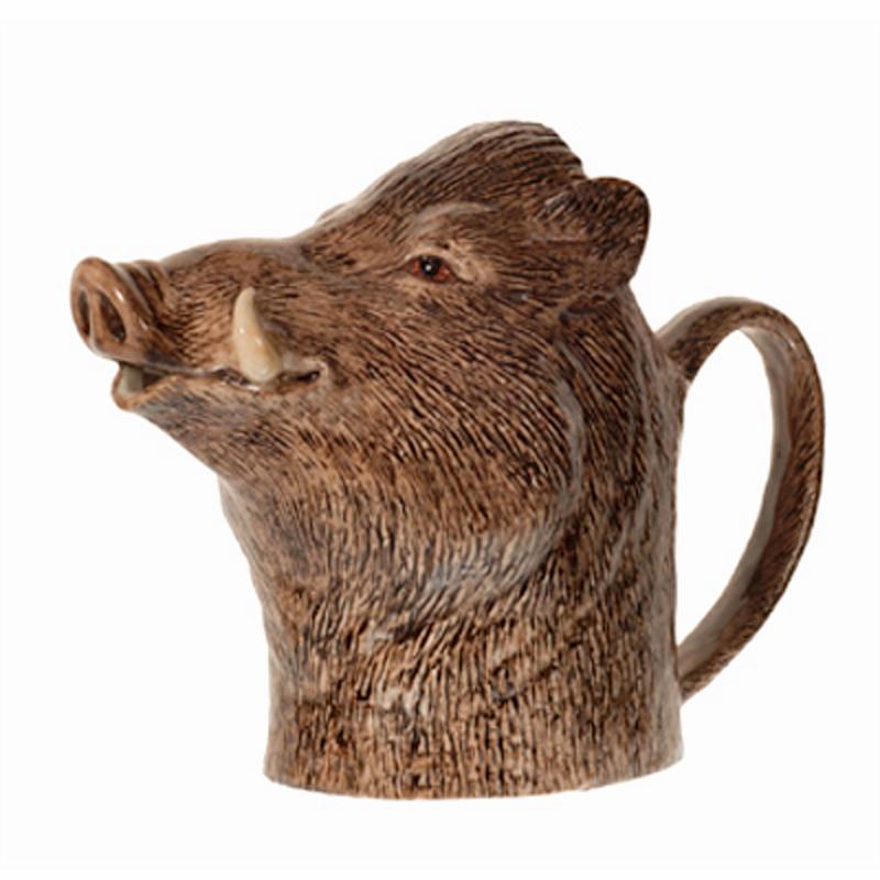 Kanne. Krug. Sahnekännchen Wildschwein L feine Keramik Quail GB