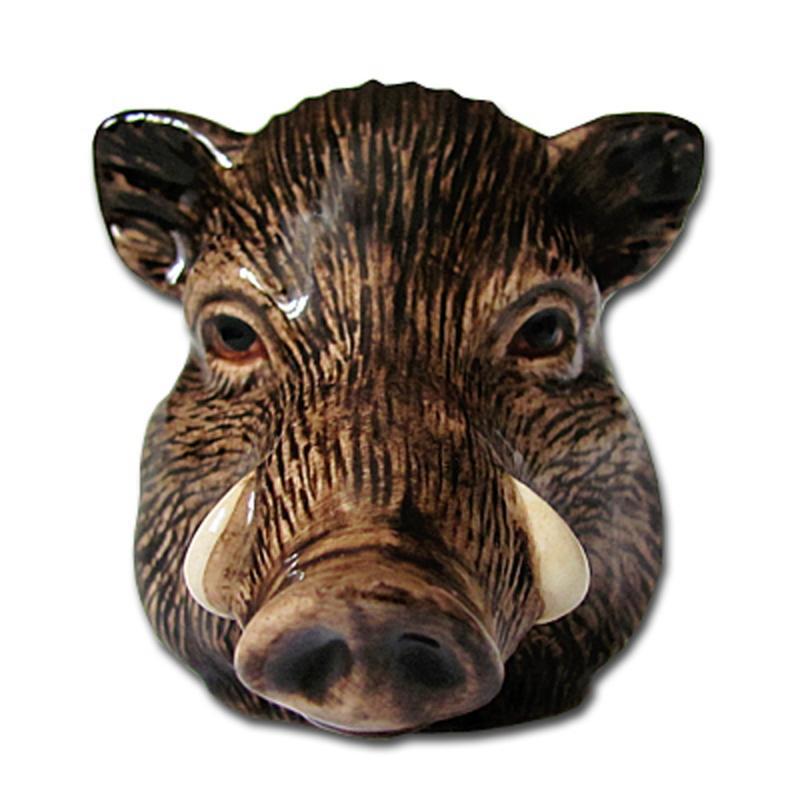 Eierbecher Wildschwein 2 Stück feine Keramik Quail GB
