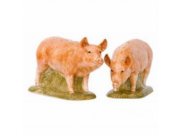 Salz- & Pfefferstreuer-Set Schweine Tamworth feine Keramik Quail GB