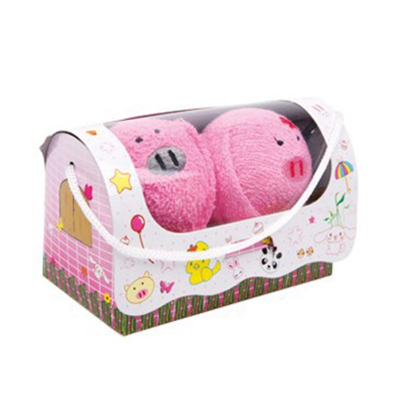 Handtücher Glücksschweine. 2er-Set. in Geschenkbox