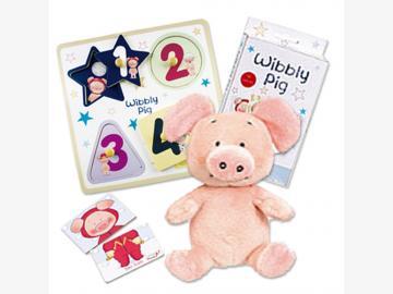 Wibbly-Pig Geschenkset. 2-teilig. Original aus GB! %