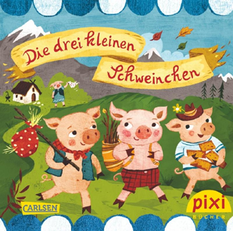 3-Schweinchen-Set. 2-teilig. Becher und Spiel. mit Preisvorteil!