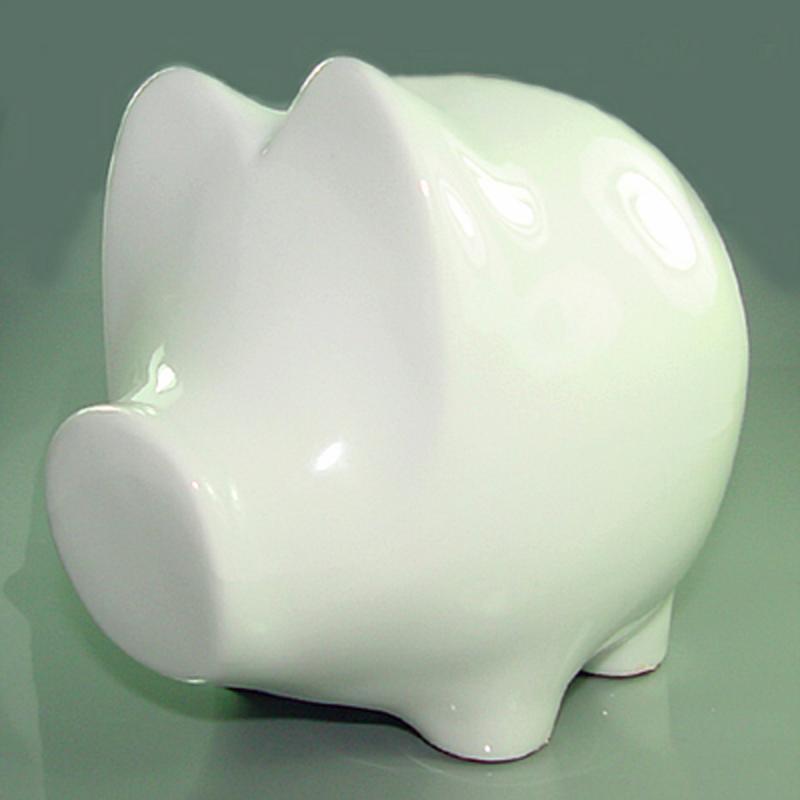 Sparschwein . Keramik. H 19cm