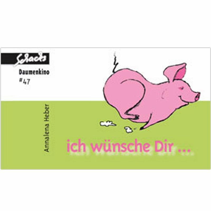 Daumenkino Schwein Viel Glück mit dem Glücksschwein