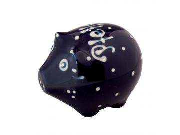 Pfefferstreuer Schwein dunkelblau Original Bürgeler Keramik