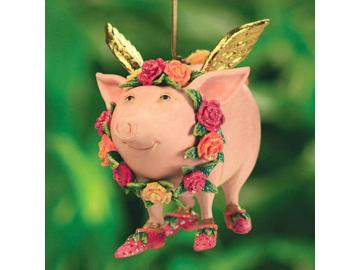Krinkles Flying Rose Pig. Patience Brewster. Schwein