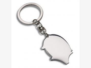 Glücksschwein-Schlüsselanhänger PRILLY SHINY Metall silberglänzend