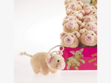 Anhänger Schweinchen Nelly Mini Plüsch 8 cm Schaffer