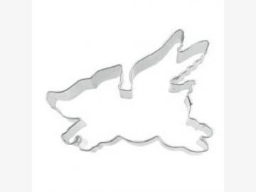 Ausstechform Fliegendes Schwein. Weißblech. 6 cm