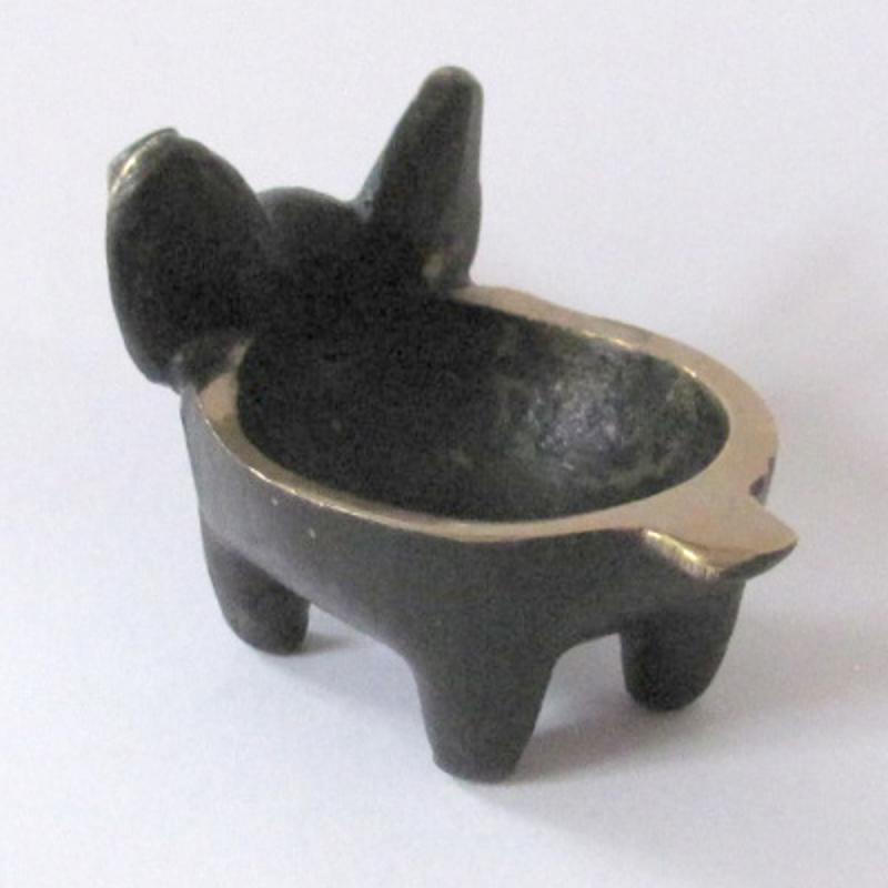 Kleine Schale Schwein Bronze Design Walter Bosse Sehr gut erhalten! EINZELSTÜCK!