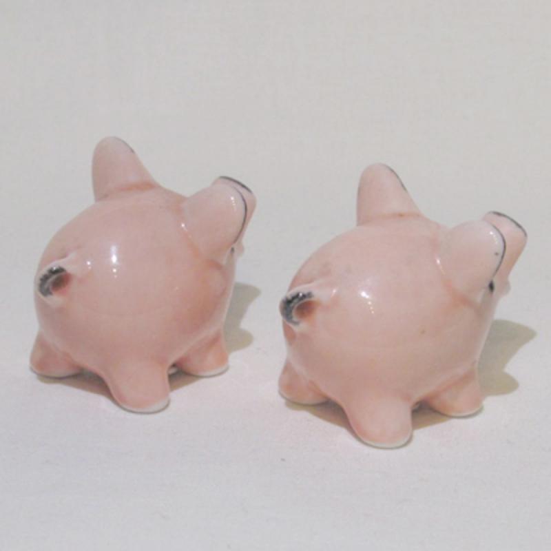 Salz- & Pfefferstreuer-Set rosa Schweine . Goebel Porzellan gebraucht. TOP EINZELSTÜCKE