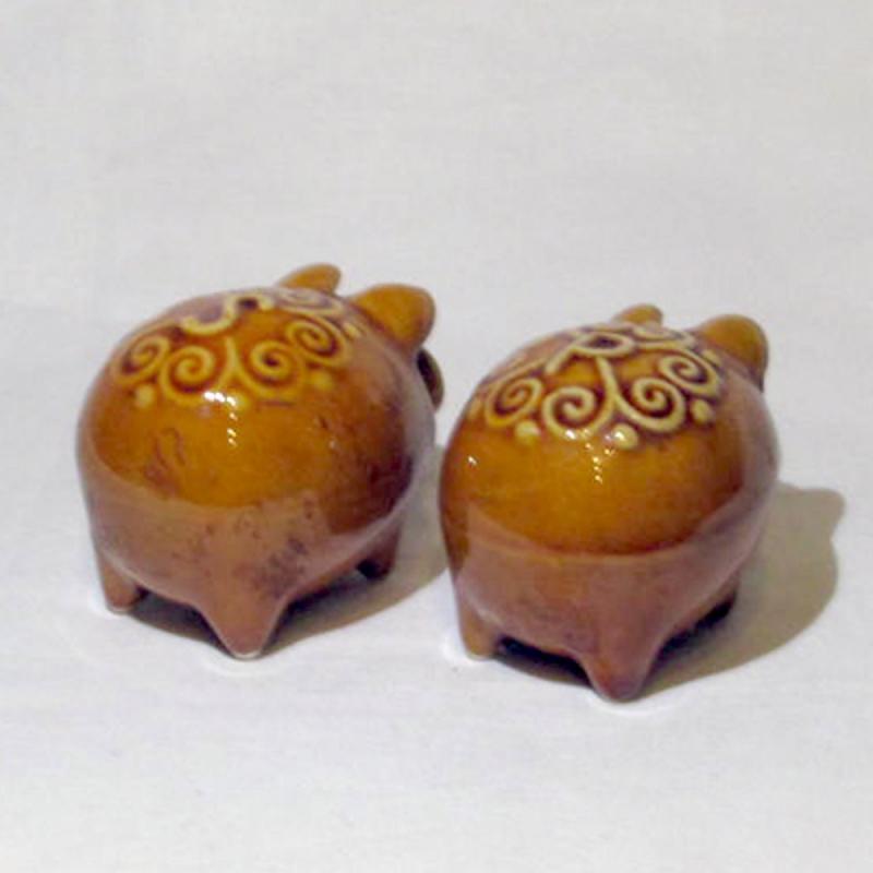 Salz- & Pfefferstreuer-Set Keramik aus d. 70er Jahre gebraucht, aber in gutem Zustand EINZELSTÜCKE