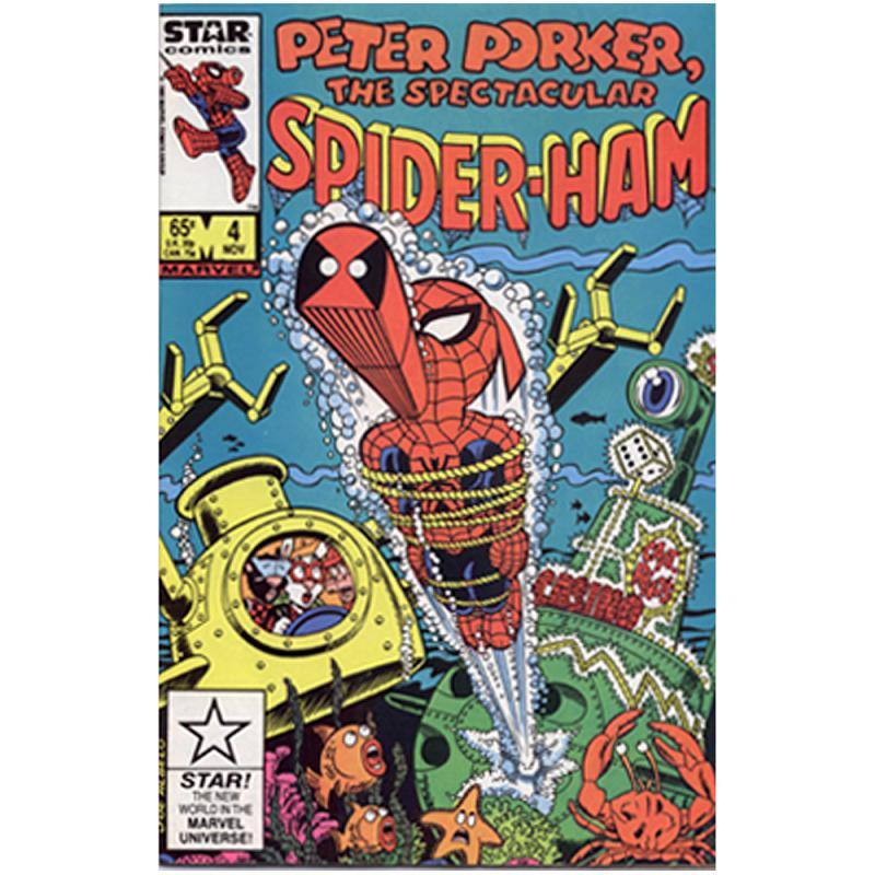 Peter Porker SPIDER-HAM Marvel Comic Vol.1-No.4 -Nov 1986 Sprache englisch Einzelstück TOP ZUSTAND!