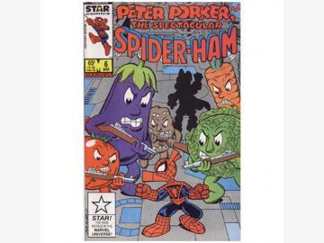 Peter Porker SPIDER-HAM Marvel Comic Vol.1-No.6-March 1986 Sprache englisch Einzelstück TOP ZUSTAND!
