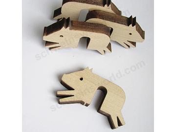Topfwächter Schwein. Holz.Birke