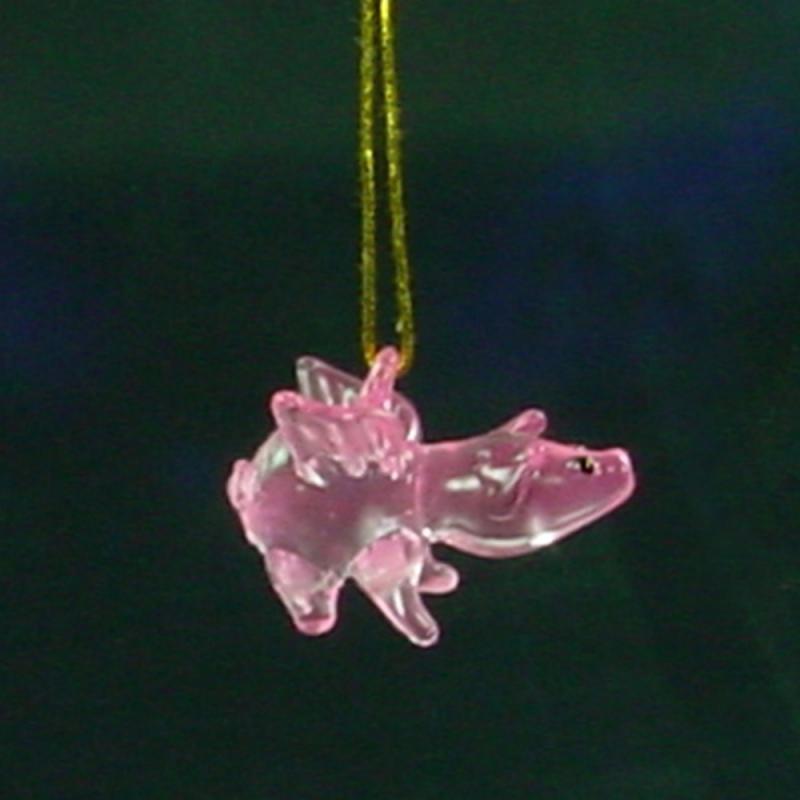Baumschmuck Glas-Schweinchen