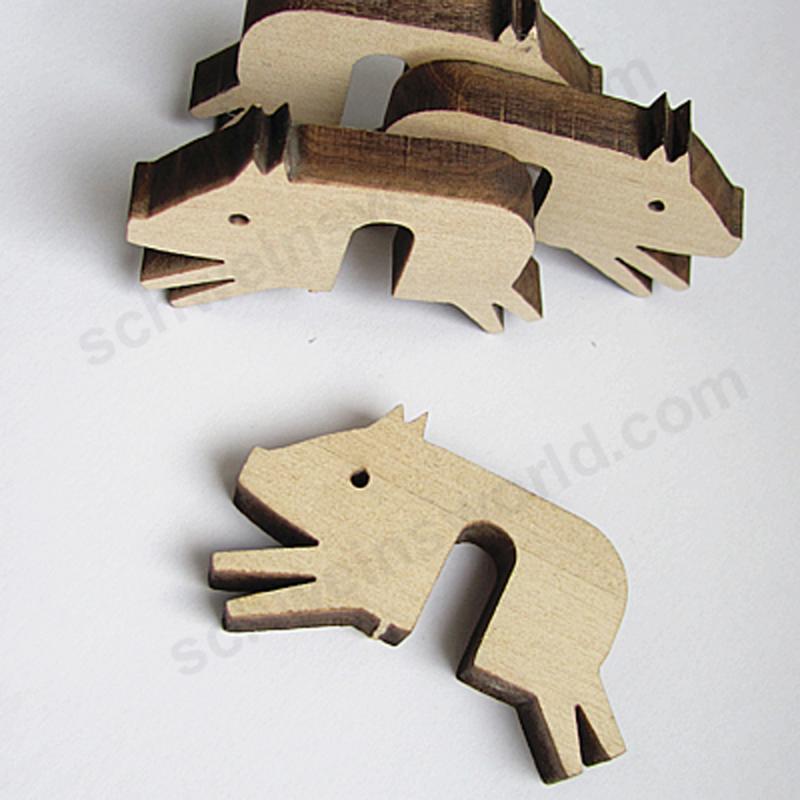 Topfwächter Schwein. 3er-Set. Holz.Birke. 10% PREISVORTEIL