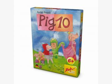 PIG 10 ... Das Spiel mit Schwein. Kartenspiel. ab 6 J.