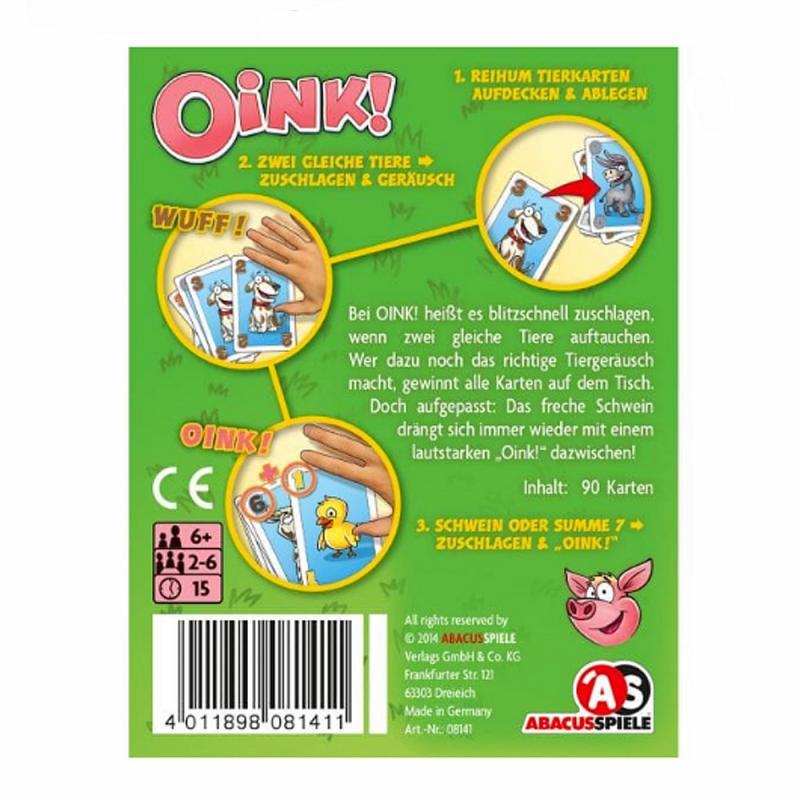 OINK! Das Spiel mit Schwein. Kartenspiel. ab 6 J.
