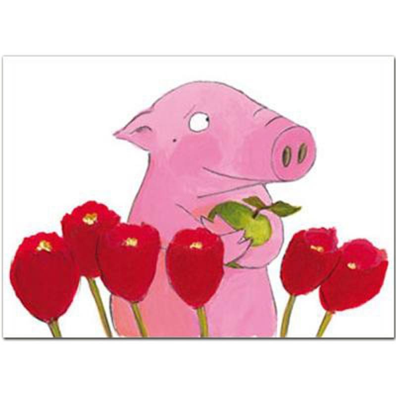 Postkarte Rosalie & Trüffel. Tulpen