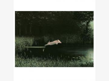Postkarte. Köhlers Schwein. Michael Sowa