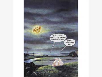 Postkarte Schweinemond . Marunde