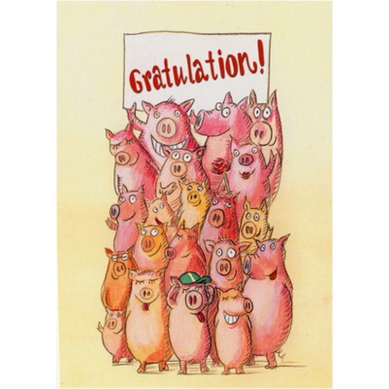 Postkarte Gratulation! Nina v. Herrath