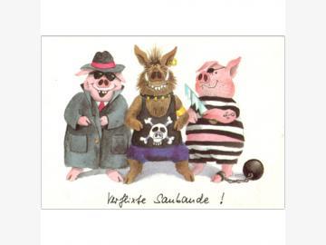 Postkarte Verflixte Saubande