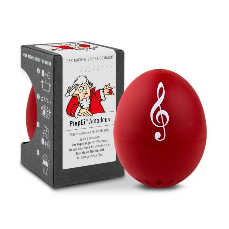 PIEPEI® . AMADEUS Die Eieruhr zum Mitkochen! für 3 Eier-Härtegrade in Geschenkdose
