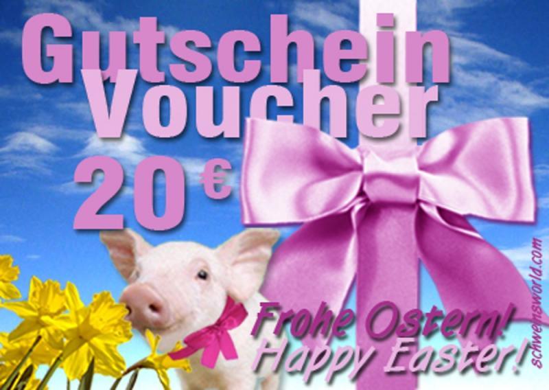 Warengutschein Schwein OSTER-EDITION. im Wert von 20 EURO