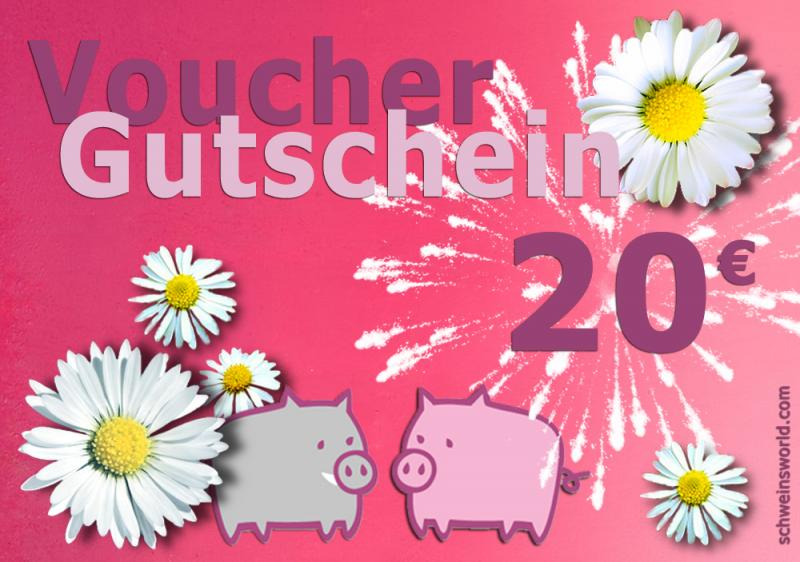 Warengutschein Schwein . im Wert von 20 EURO