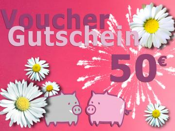 Warengutschein Schwein . im Wert von 50 EURO
