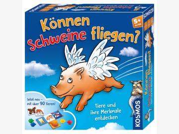 Können Schweine fliegen? Das Kartenspiel/Brettspiel - JUBILÄUM -ab 5 J.