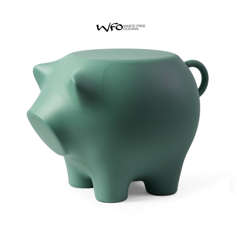 Sidepig SEAPIG - Das Beistellschwein zu 100% aus recycelten Fischernetzen . Tisch/Hocker